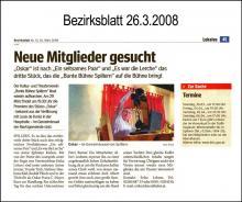 Bericht im Bezirksblatt am 26.3.2008